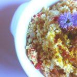 cous cous con cipollotti pomodori e curry
