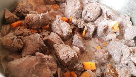 cottura della carne di cinghiale