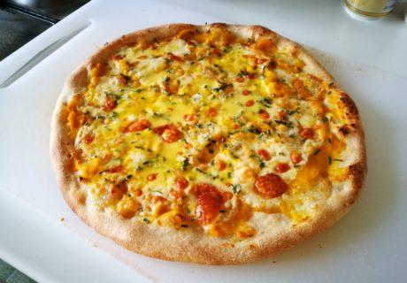 pizza zucca taleggio erba cipollina